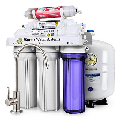 Best Reverse Osmosis Systems iSpring 6-Stage High Capacity Under Sink Reverse Osmosis System